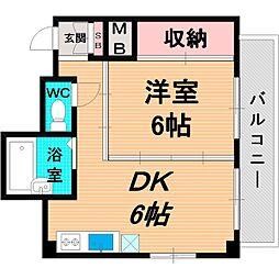 Osaka Metro長堀鶴見緑地線 今福鶴見駅 徒歩10分の賃貸マンション 4階1DKの間取り