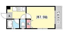 兵庫県神戸市東灘区岡本2丁目の賃貸マンションの間取り