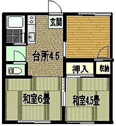 京和ハイツ[203号室]の間取り