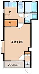 仙台市地下鉄東西線 薬師堂駅 徒歩10分の賃貸アパート 1階1Kの間取り