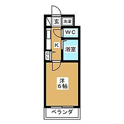 リーガル京都河原町II[8階]の間取り