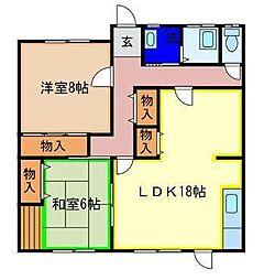 吉田アパート[101号室]の間取り