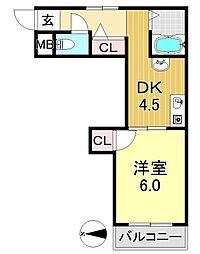 MIZUNOコーポ[2O3号室号室]の間取り