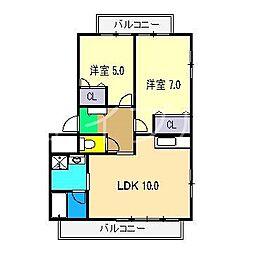 サン・マリン横浜[1階]の間取り