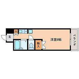 奈良県奈良市あやめ池北の賃貸マンションの間取り
