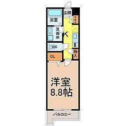 WillDo太閤通(ウィルドゥタイコウドオリ)[8階]の間取り