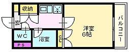 メゾン学園[1階]の間取り
