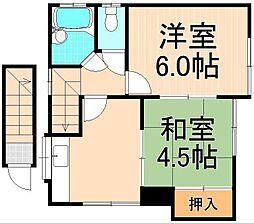 中山ハウス[201号室]の間取り