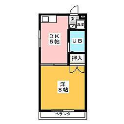 河合タウン388 A棟[2階]の間取り