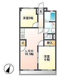 中町田ビル[3階]の間取り