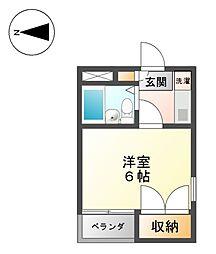 ノースコート志賀本通[4階]の間取り