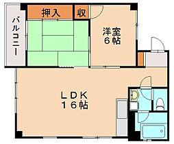 第9上村ビル[5階]の間取り