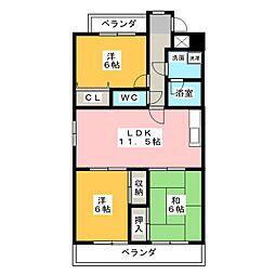 Menage KOMORI[4階]の間取り