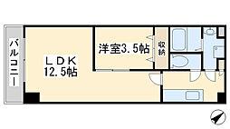 堺町センタービル[1202号室]の間取り
