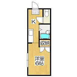 フラワーハウス[105号室]の間取り