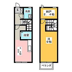 [テラスハウス] 群馬県高崎市新保町 の賃貸【/】の間取り