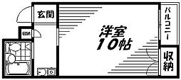 Osaka Metro谷町線 守口駅 徒歩7分の賃貸マンション 3階1Kの間取り