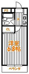 東京都足立区六月2丁目の賃貸マンションの間取り