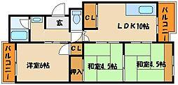 王塚台ハイツ[3階]の間取り