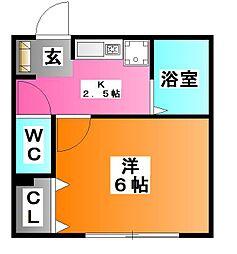 東京都北区赤羽西1の賃貸アパートの間取り