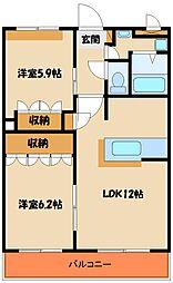 コーポ・サカシタ[2階]の間取り