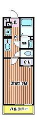 リブリ・国立北[2階]の間取り