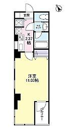 虎ノ門A&K IP ビル 7階1Kの間取り