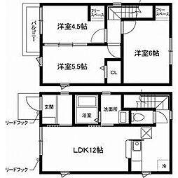 [一戸建] 愛知県名古屋市名東区若葉台 の賃貸【/】の間取り