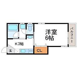 メゾン東桜木[1階]の間取り