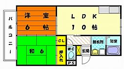 プレジール光葉台[1階]の間取り
