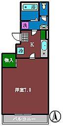 ミリアビタ本中山[105号室]の間取り