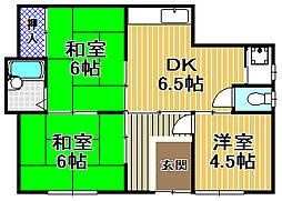 第2富士屋マンション[1階]の間取り