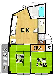 サンパレス21武庫之荘3[2階]の間取り