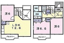 東京都八王子市小宮町の賃貸アパートの間取り