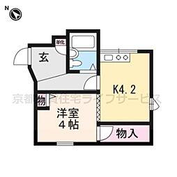 コスモ三条京阪[105号室]の間取り