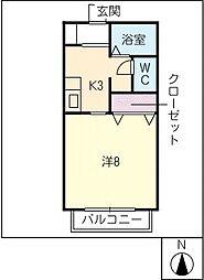 サン・friends岩崎[2階]の間取り