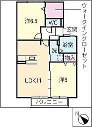 ファミリア富士塚[1階]の間取り