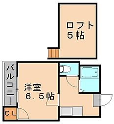 トレンディハウス竹下[1階]の間取り