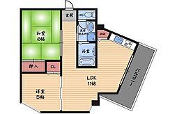 クリスタルメゾン[8階]の間取り