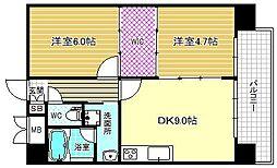 Alcedar court umekita[4階]の間取り