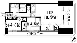 メルヘン宝塚[8階]の間取り