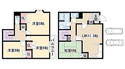 [一戸建] 愛知県名古屋市緑区乗鞍2丁目 の賃貸【/】の間取り