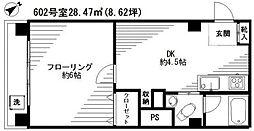リッツ麻布[6階]の間取り