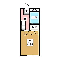 コーポ台原[2階]の間取り