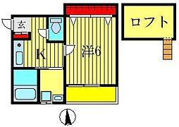 ソレイユ・ワシオ1・2番館[2階]の間取り