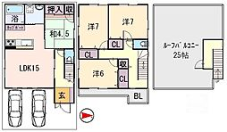 [一戸建] 大阪府八尾市宮町4丁目 の賃貸【/】の間取り