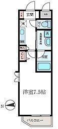 東京都江東区白河4丁目の賃貸マンションの間取り