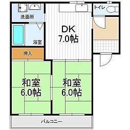 大阪府大阪市阿倍野区共立通2丁目の賃貸マンションの間取り