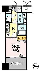 都営浅草線 蔵前駅 徒歩4分の賃貸マンション 3階1Kの間取り