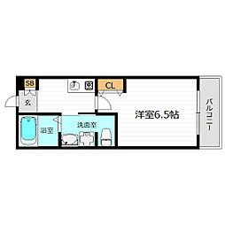 SWISS京橋[10階]の間取り